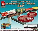 Bridge/Pier Set Power-Loc(TM) -- Model Railroad Bridge -- HO Scale -- #8214
