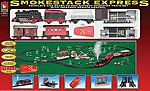 Smoke Stack Express Battery Powered Steam Freight -- Model Train Set -- HO Scale -- #8851