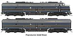 EMD E9A/E8Bm Baltimore & Ohio Capitol Limited -- HO Scale Model Train Diesel Locomotive -- #41369