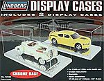 2 Pack Display Car Case Chrome Base -- Plastic Model Display Case -- 1/24 Scale -- #14102