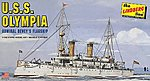 USS Olympia Military Boat (Re-Issue) -- Plastic Model Military Ship Kit -- 1/240 Scale -- #402