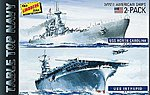 USS Intrepid & USS North Carolina -- Plastic Model Military Ship Kit -- 1/1200 Scale -- #419