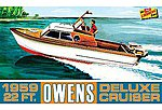 Owens Outboard Cruiser Boat -- Plastic Model Ship Kit -- 1/25 Scale -- #hl222-12