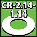Cent. Ring 1/8 thk. 2.14od - 1.14id inch (2) -- Model Rocket Building Accessory -- #cr214114