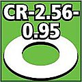 Cent. Ring 1/8 thk. 2.56od - 0.95id inch (2) -- Model Rocket Building Accessory -- #cr256095