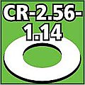 Cent. Ring 1/8 thk. 2.56od - 1.14id inch (2) -- Model Rocket Building Accessory -- #cr256114