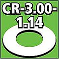 Cent. Ring 1/8 thk. 3.00od - 1.14id inch (2) -- Model Rocket Building Accessory -- #cr300114