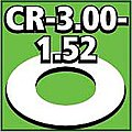 Cent. Ring 1/8 thk. 3.00od - 1.52id inch (2) -- Model Rocket Building Accessory -- #cr300152