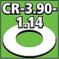Cent. Ring 1/8 thk. 3.90od - 1.14id inch (2) -- Model Rocket Building Accessory -- #cr390114