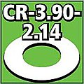 Cent. Ring 1/8 thk. 3.90od - 2.14id inch (2) -- Model Rocket Building Accessory -- #cr390214