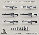 1/35 USN SEALS Weapon Mk 18 Rifle (CQBR) (6)