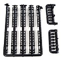 Load Tie Downs (Black) -- HO Scale Model Vehicle Accessory -- #12119