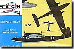 Dornier Do26 WWII German Long Range 4 Engine Seaplane -- Plastic Model Airplane Kit -- 1/72 -- #16