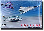 X24A & X24B USAF Experimental Lifting Bodies Aircraft -- Plastic Model Airplane Kit -- 1/72 -- #26