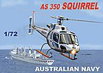 AS350 Squirrel Australian Navy/Army Helicopter -- Plastic Model Helicopter Kit -- 1/72 Scale -- #60