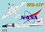 NASA WB57F Weather Recon Aircraft -- Plastic Model Airplane Kit -- 1/72 Scale -- #63