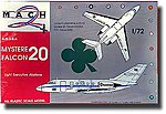 Mystere/Falcon 20 Aircraft -- Plastic Model Airplane Kit -- 1/72 Scale -- #7