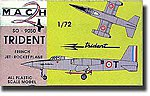 Trident SO9050 French Jet -- Plastic Model Airplane Kit -- 1/72 Scale -- #9
