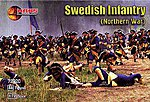 Northern War Swedish Infantry (48) -- Plastic Model Military Figure -- 1/72 Scale -- #72020