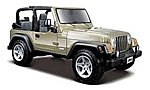 Jeep Wrangler Rubicon (Tan) -- Diecast Model Car -- 1/27 Scale -- #31245tan