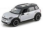 Mini Countryman (Silver/Black) -- Diecast Model Car -- 1/24 Scale -- #31273slb