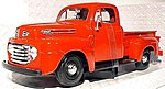 1948 Ford F1 Pickup (Red) -- Diecast Model Truck -- 1/24 scale -- #31935red