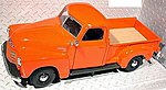 1950 Chevrolet 3100 Pickup Truck (Orange) -- Diecast Model Truck -- 1/24 scale -- #31952org