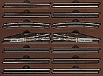 E Extension Set w/Manual Turnouts -- Z Scale Nickel Silver Model Train Track -- #8190