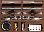 E Extension Set w/Electric Turnouts -- Z Scale Nickel Silver Model Train Track -- #8191