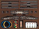 T3 Extension Set w/Electric Turnouts -- Z Scale Nickel Silver Model Train Track -- #8194