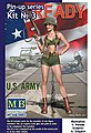 Alice US Army Pin-Up -- Plastic Model Military Figure Kit -- 1/24 Scale -- #24003