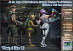 1/24 At the Edge of the Universe- Space Mercenary w/Heavy Gun, Robot & Android Waitress Holding tray/drinks (New Tool)