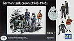 German Tank Crew Set #1 1943-45 (4) (D) -- Plastic Model Military Figure -- 1/35 Scale -- #3507