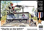 Charlie on Left US Jeep Crew and Viet Cong -- Plastic Model Military Figure -- 1/35 Scale -- #35105