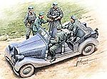WWII German Military Car with Figures -- Plastic Model Military Staff Car -- 1/35 Scale -- #35112