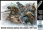 British Infantry Before Attack WWI Era -- Plastic Model Military Figure Kit -- 1/35 Scale -- #35114