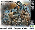 WWI German & British Infantrymen (5) -- Plastic Model Military Figure Kit -- 1/35 Scale -- #35116
