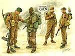 British Troops Caen 1944 (4) -- Plastic Model Military Figure -- 1/35 Scale -- #3512