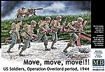 Move, Move, Move US Soldiers -- Plastic Model Military Figure Kit -- 1/35 Scale -- #35130