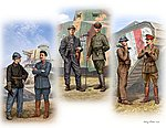 French, German, British Private & Officer Tankmen -- Plastic Model Figure Kit -- 1/35 -- #35134