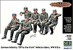 WWII German Infantry Sitting (6) -- Plastic Model Military Figure -- 1/35 Scale -- #35137