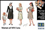 WWII Civilian Women (5) -- Plastic Model Military Figure -- 1/35 Scale -- #35148