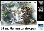 Watching the Girls, US & German Paratroopers -- Plastic Model Military Vehicle Kit -- 1/35 -- #35157