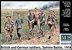 British & German Soldiers Somme Battle 1916 (6) -- Plastic Model Military Figure -- 1/35 -- #35158