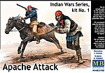 1/35 Apache Attack Indians w/Rifles (2) & Horse (1) (New Tool)
