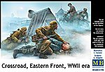 1/35 WWII Crossroads Eastern Front Soviets, German Officer & Motorcyclists (5)