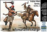 1/35 Tomahawk Charge Indians w/Weapons (2) & Horse (1) (New Tool)