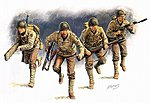 US Rangers D-Day (4) -- Plastic Model Military Figure -- 1/35 Scale -- #3520