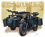 WWII German Motorcycle with Sidecar -- Plastic Model Military Vehicle -- 1/35 Scale -- #3528