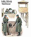 Watch Tower with 4 Figures -- Plastic Model Military Figure -- 1/35 Scale -- #3546